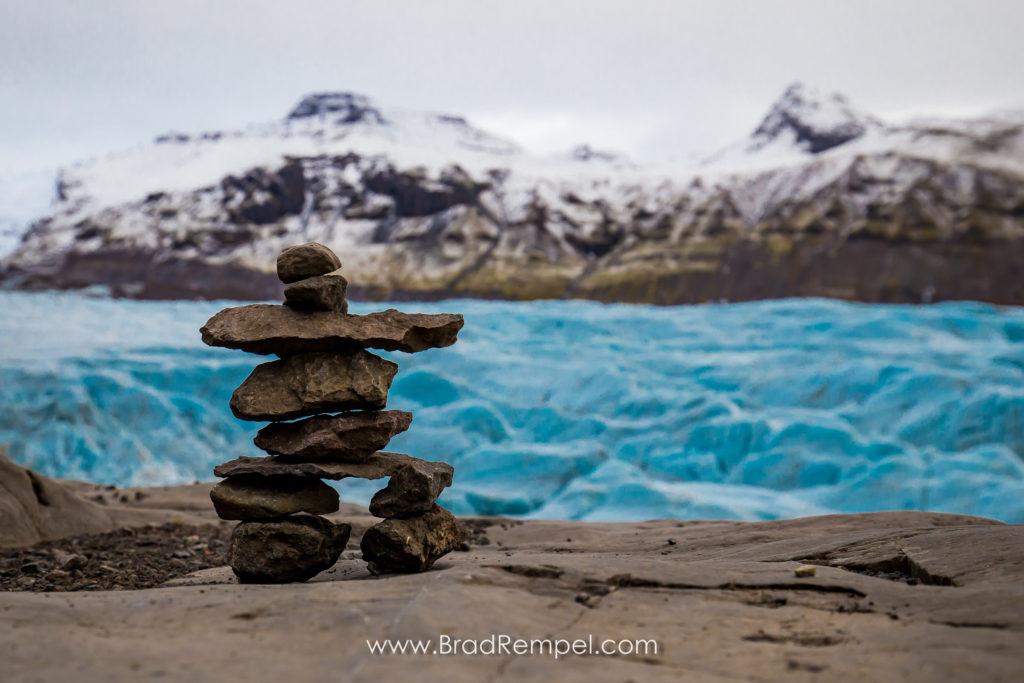 Inukshuk on Svinafellsjokull Glacier, Brad Rempel
