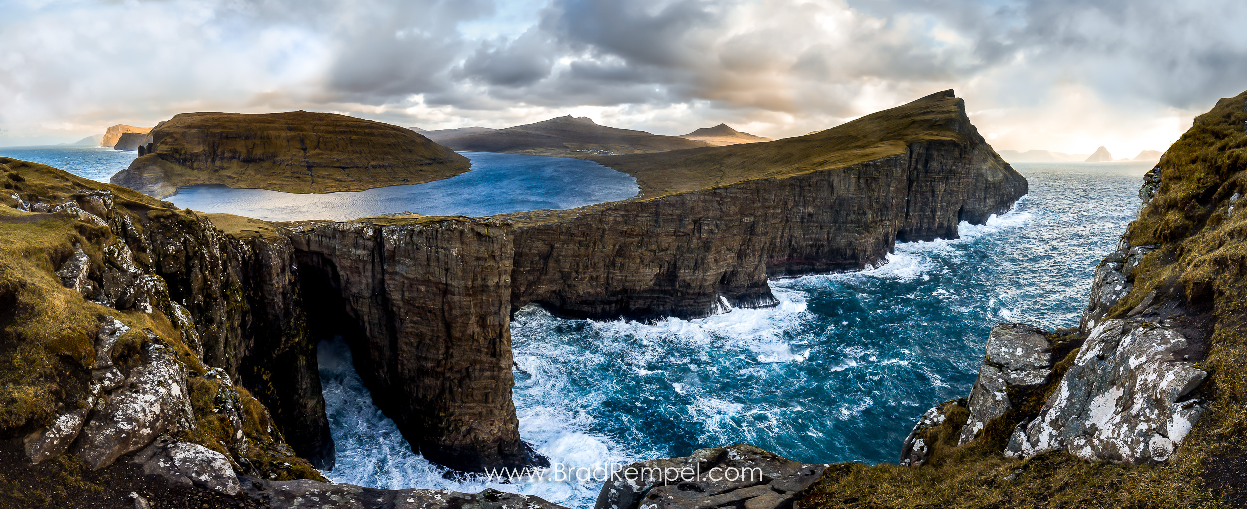 Traelanipan Trail and Sorvagsvatn Lake, Faroe Islands - Brad Rempel