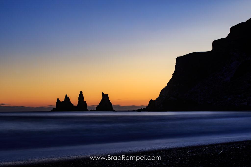 Reynisdrangar, sunset - Brad Rempel